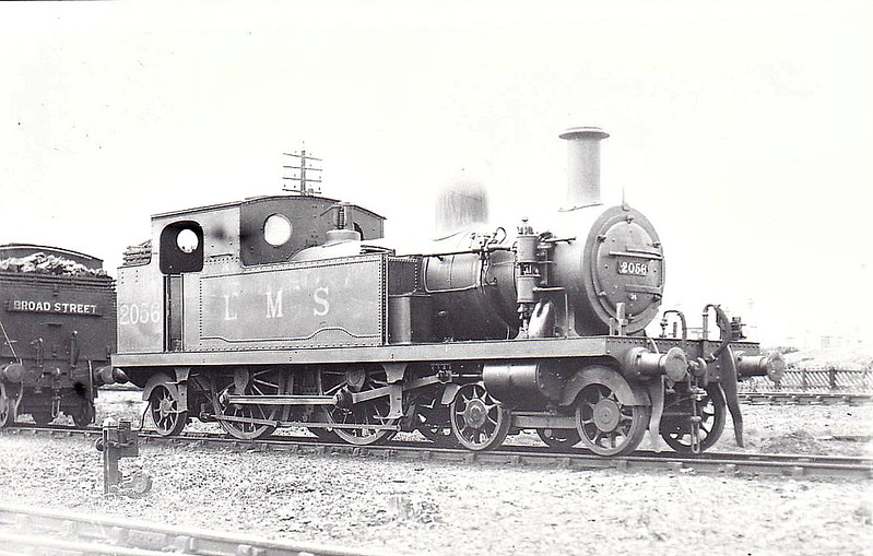 LTSR - 2056 - Whitelegg LTSR Class 1 4-4-2T - built 1885 by Sharp Stewart & Co. as LTSR No.26 WEST THURROCK - 1912 to MR No.2135, 1930 to LMS No.2056 - 1932 withdrawn - seen here at Tilbury, 08/31.