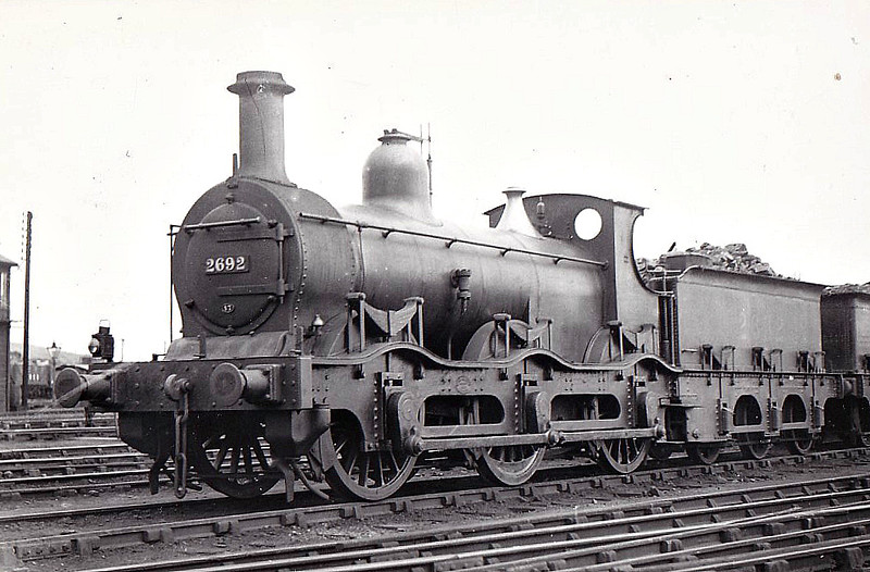 MR - 2692 - Kirtley MR Cass 2F 0-6-0 - built 1870 by Derby Works as MR No.699 - 1907 to MR No.2692 - 12/32 withdrawn.