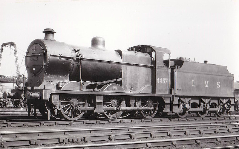 LMS - 4457 - Fowler LMS Class 4F 0-6-0 - built 03/28 by Horwich Works - 02/52 to BR No.44457 - 12/63 withdrawn from 55E Normanton - seen here at Crewe, 07/33.