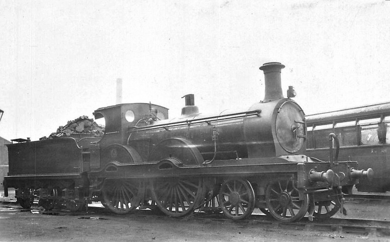 GSWR - 14235 - Stirling GSWR Class 191 4-4-0 - built 10/1874 by Kilmarnock Works as GSWR Class 6 No.97 - 015/1896 to GSWR No.97A, 05/1899 rebuilt to Class 191 by Manson, to GSWR No. 198 - 1919 to GSWR No.476 - 1923 to LMS No.14235 - 08/29 withdrawn.