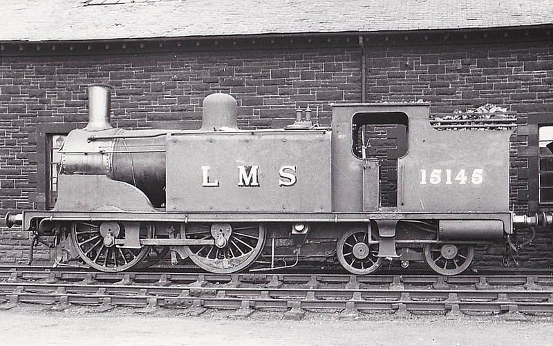 CR - 15145 - McIntosh CR Class 19 2P 0-4-4T - built 03/00 by St Rollox Works as CR No.437 - 1923 to LMS No.15145, 11/48 to BR No.55145 - 04/55 withdrawn from 63B Stirling.