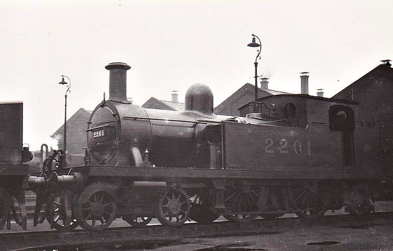 LTSR - 2201 - Whitelegg LTSR Class 1 4-4-2T - built 1880 by Sharp Stewart & Co. as LTSR No.2 GRAVESEND - 1912 to MR No.2111, 1923 to LMS No.2201, 1930 to LMS No.2078 - 1935 withdrawn.