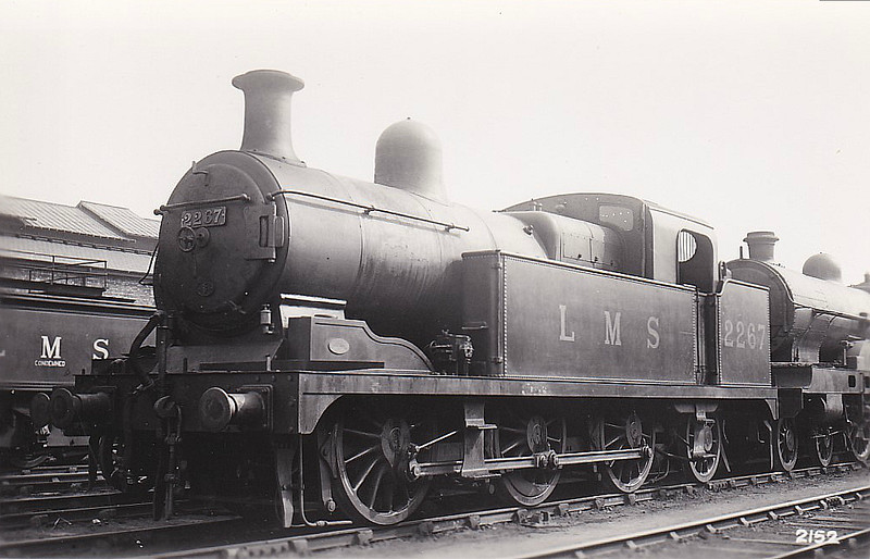 NSR - 2267 - Hookham NSR Class New L 3F 0-6-2T - built 1922 by Stoke Works as NSR No.29  - 1923 to LMS No.2267 - 04/35 withdrawn.