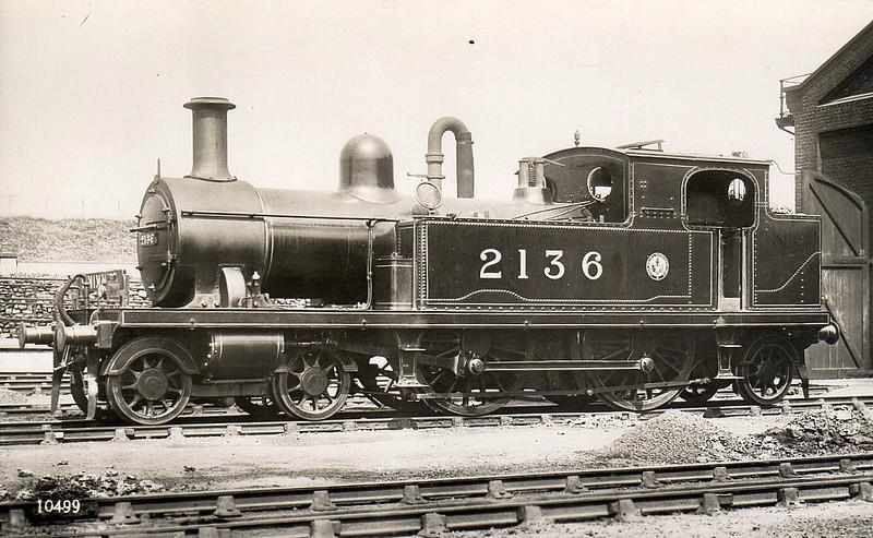 LTSR - 2136 - Whitelegg LTSR Class 1 4-4-2T - built 1885 by Sharp Stewart & Co. as LTSR No.27 WHITECHAPEL - 1912 to MR No.2136, 1930 to LMS No.2057 - 1932 withdrawn.