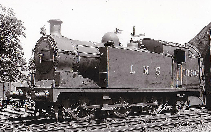 GSWR - 16907 - Whitelegg GSWR Class 1 0-6-2T - built 06/19 by North British Loco Co. as GSWR No.8 - 1923 to LMS No.16407, 1926 to LMS No.16907 - 11/45 withdrawn from Ayr MPD.