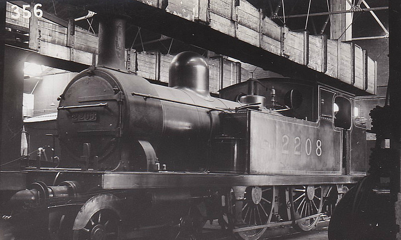 LTSR - 2208 - Whitelegg LTSR Class 1 4-4-2T - built 1880 by Sharp Stewart & Co. as LTSR No.9 TILBURY DOCKS - 1912 to MR No.2118, 1923 to LMS No.2208, 1930 to LMS No.2085 - 1930 withdrawn.