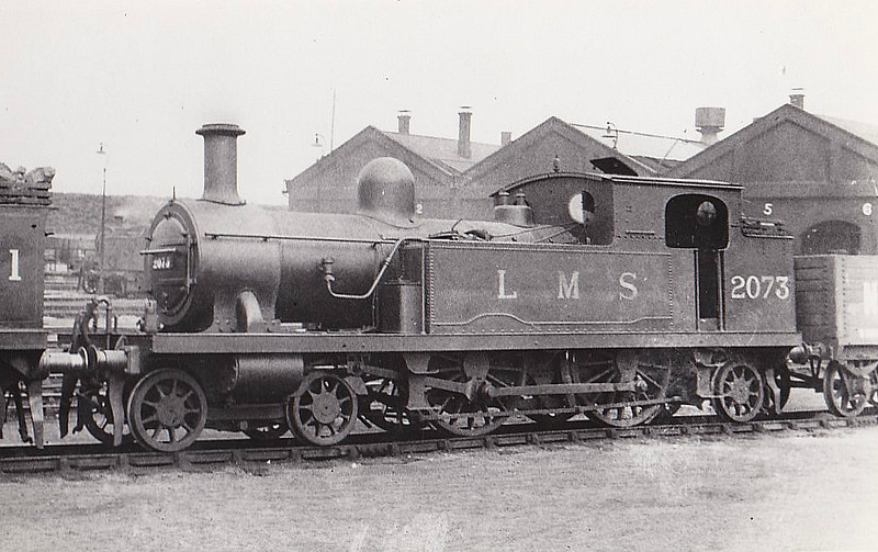 LTSR - 2073 - Whitelegg LTSR Class 1 4-4-2T - built 1881 by Sharp Stewart & Co. as LTSR No.22 COMMERCIAL ROAD - 1912 to MR No.2131, 1923 to LMS No.2196, 1930 to LMS No.2073 - 1935 withdrawn - seen here at Plaistow in 1933.