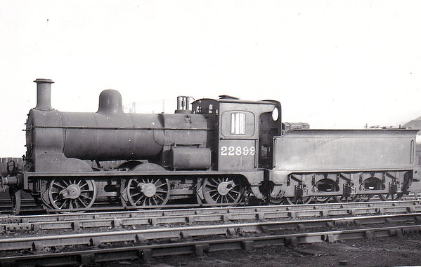 LTSR - 22899 - LTSR Class 49 2F 0-6-0 - built 1898 by Sharp Stewart & Co. for the Ottoman Railway, not delivered, sold to LTSR as No.50 - 1912 to MR No.2899, 1923 to LMS No.22899 - 1936 withdrawn.