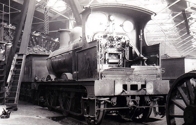 MR - 3176 - Johnson Class 1698 2F 0-6-0 - built 1887 by Derby Works as MR No.1784 - 1907 to MR No.3176 - 1923 to LMS - 10/48 to BR as No.58247 - 01/58 withdrawn - seen here at Derby Works.