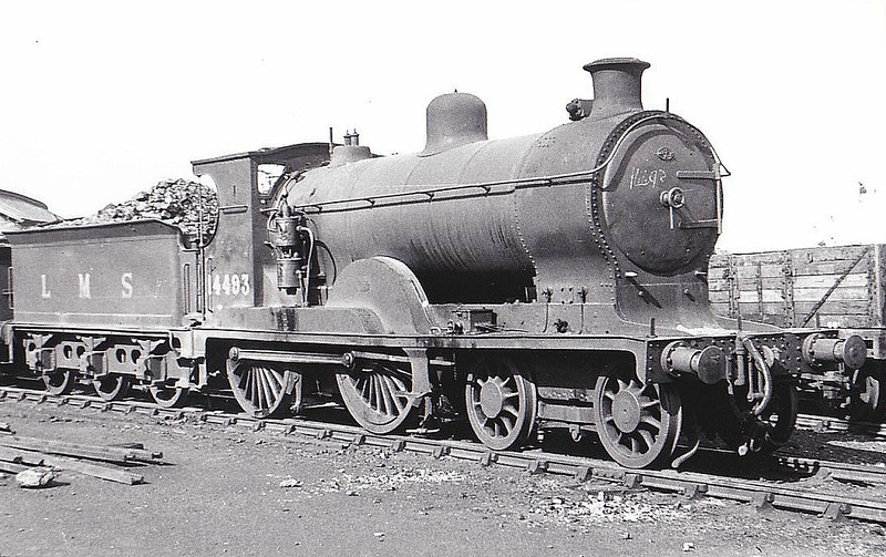 CR - 14493 - Pickersgill CR Class 72 3P 4-4-0 - built 05/21 by Armstrong Whitworth & Co. as CR No.88 - 1924 to LMS No.14493, 02/50 to BR No.54493 - 11/61 withdrawn from 60A Inverness, where seen 08/48.