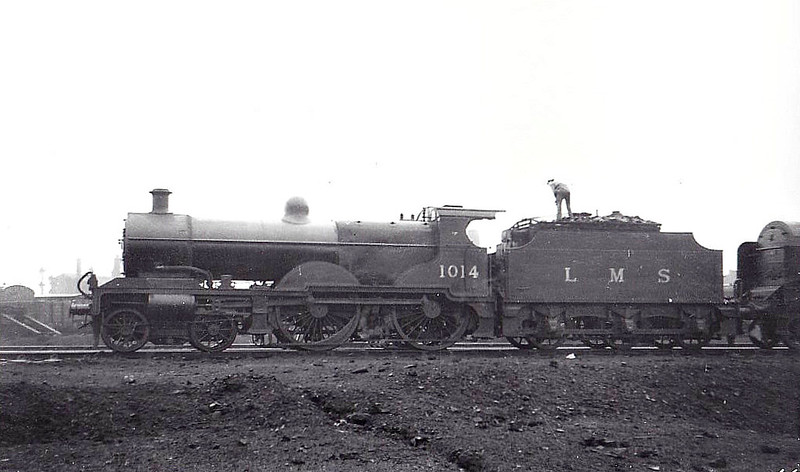 MR - 1014 - Johnson MR Class 4P Compound 4-4-0 - built 12/19 by Derby Works - 08/48 to BR No.41014 - 05/52 withdrawn from 17A Derby.