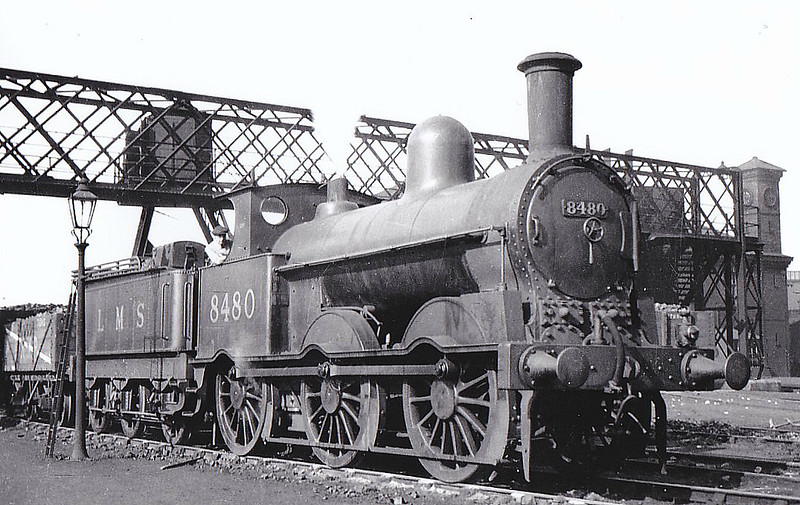 LNWR - 8480 - Webb LNWR Class 2F 'Cauliflower' 0-6-0 - built 02/1899 by Crewe Works as LNWR No.1501 - 1923 to LMS No.8480 -  11/30 withdrawn - seen here at Carlisle Upperby, 01/30.