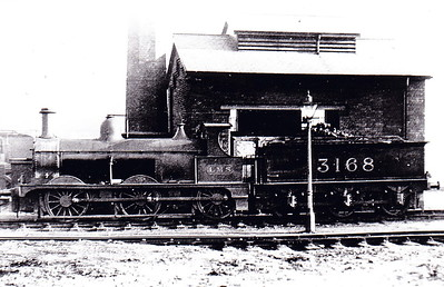 MR - 3168 - Johnson Class 1698 2F 0-6-0 - built 1887 by Derby Works as MR No.1776 - 1907 to MR No.3168 - 1923 to LMS - 1948 to BR as No.58243 (not applied) - 1946 withdrawn - 06/49 withdrawn from 3D Aston - seen here at Sheffield in October 1926.