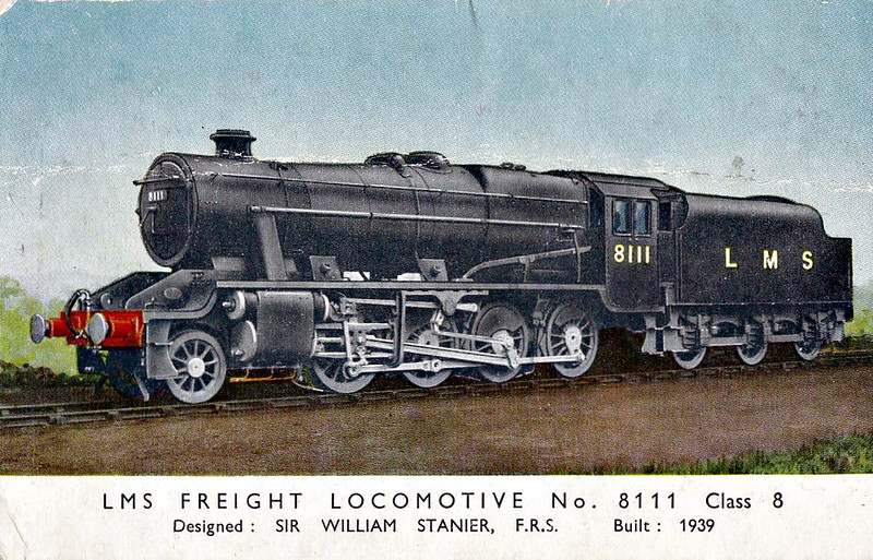LMS - 8111 - Stanier LMS Class 8F 2-8-0 - built 03/39 by Crewe Works - 06/48 to BR No.48111 - 03/68 withdrawn from 9K Bolton.