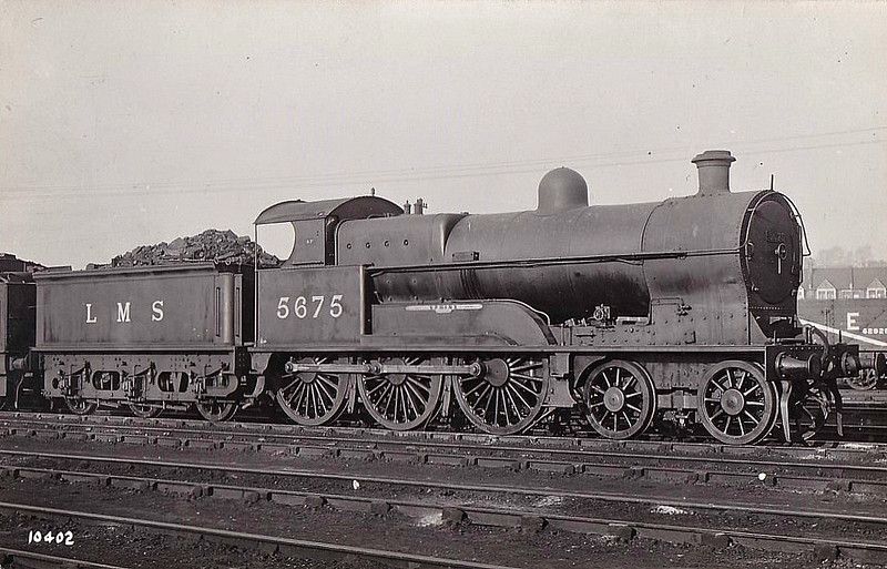 LNWR - 5675 SPHINX - Bowen-Cooke LNWR 'Prince of Wales' Class 4-6-0 - built 01/16 by North British Loco Co. as LNWR No.1466 - 07/26 to LMS No.5675, 05/35 to LMS No.25675 - 08/36 withdrawn