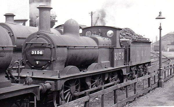 MR - 3156 - Johnson Class 1698 2F 0-6-0 - built 1886 by Derby Works as MR No.1764 - 1907 to MR No.3156 - 1923 to LMS - 05/48 to BR No.58238 -  11/57 withdrawn from 19C Canklow.