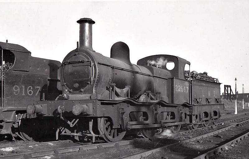 MR - 22567 - Kirtley MR Class 1F 0-6-0 - built 1868 by Dubs & Co. as MR No.649, 1907 to MR No.2567, 1932 to MR No.22567 - 1946 withdrawn - seen here at Coventry.