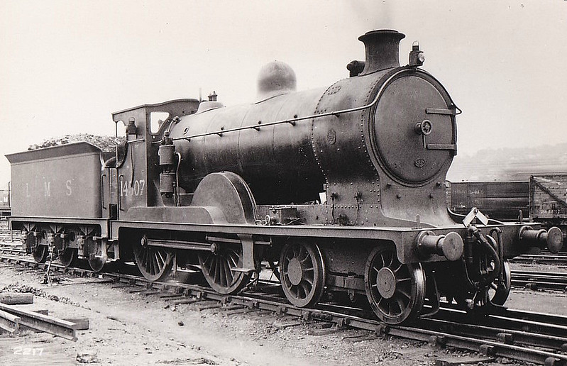 CR - 14507 - Pickersgill CR Class 72 3( 4-4-0 - built 12/22 by North British Loco Co. as CR No.96 - 1924 to LMS No.14507, 01/50 to BR No.54507 - 11/61 withdrawn from 68B Dumfries.