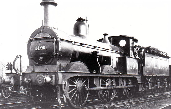 MR - 3190 - Johnson Class 1798 2F 0-6-0 - built 1888 by Derby Works as MR No.1798 - 1907 to MR No.3190 - 1923 to LMS - 05/48 to BR as No.58249 - 03/53 withdrawn from 15C Leicester Midland - seen here at Leicester West Bridge in September 1937.