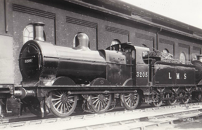 MR - 3205 - Johnson MR 2F 0-6-0 - built 10/1891 by Neilson & Co. as MR No.1878 - 1907 to MR No.3205, 09/48 to BR No.43205 - 12/59 withdrawn from 15C Leicester Midland - seen here at Derby Works in 1938.