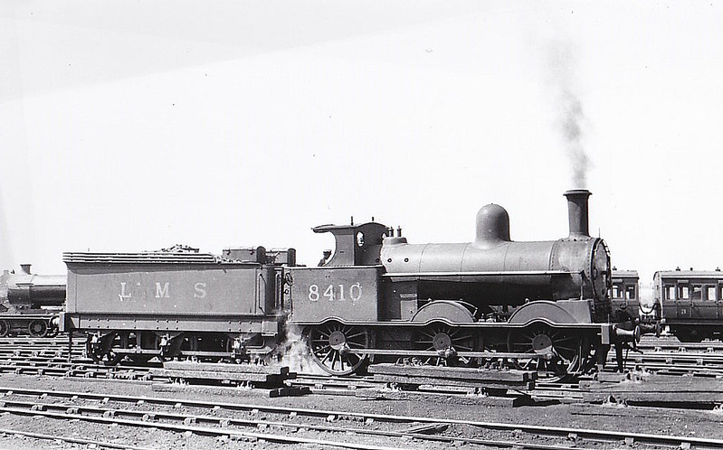 LNWR - 8410 - Webb LNWR Class 2F Cauliflower 0-6-0 - built 03/1896 by Crewe Works as LNWR No.2323 - 01/28 to LMS No.8410, 09/43 to LMS No.28410 - 04/46 withdrawn - seen here at Carlisle, 06/37.