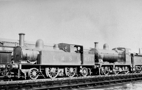 "LNWR - 6519 - Webb LNWR 4' 6"" Class 1P 2-4-2T - built 11/1884 by Crewe Works as LNWR No.287 - 1926 to LMS No.6519 - 12/32 withdrawn."