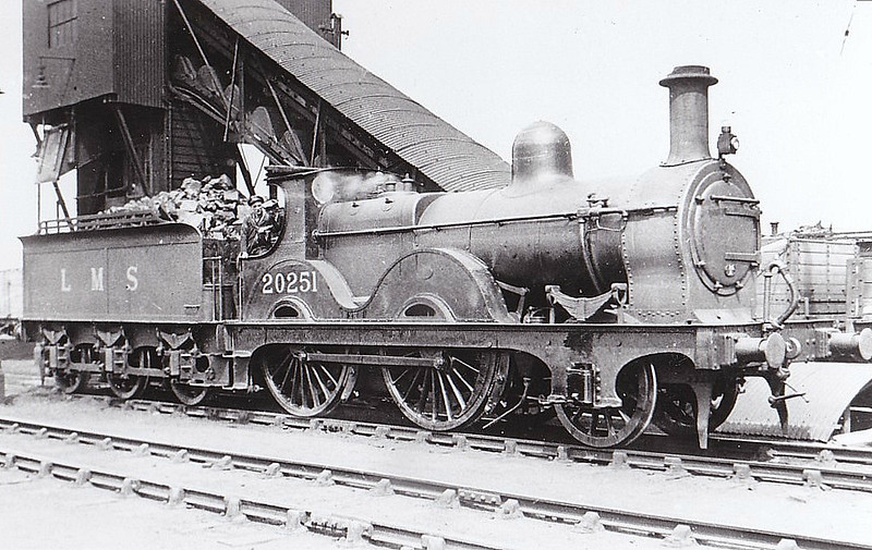 MR - 20251 - Johnson MR 1400 Class 2-4-0 - built 1881 by Neilson & Co. as MR No.1511 - 1907 to MR No.251, 1932 to LMS No.20251 - 1940 withdrawn.