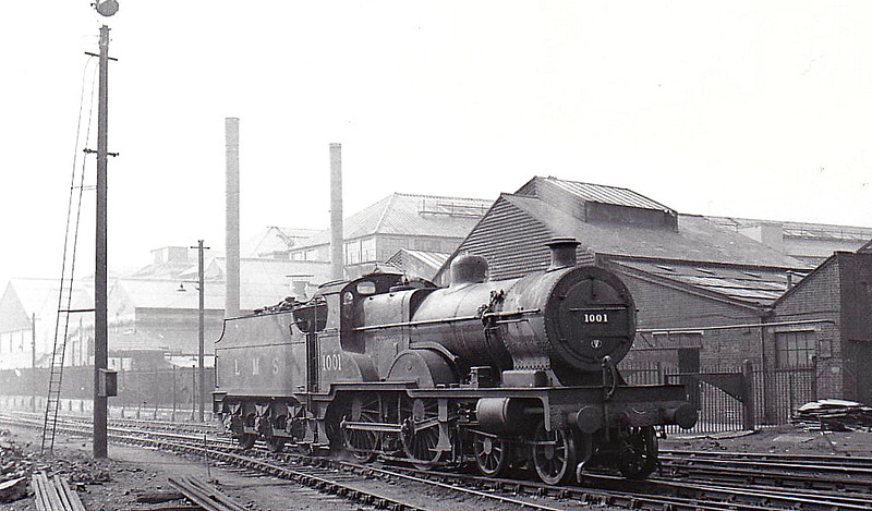 MR - 1001 - Johnson MR Class 4P Compound 4-4-0 - built 12/01 by Derby Works - 12/48 to BR No.41001 - 10/51 withdrawn from 22B Gloucester Barnwood