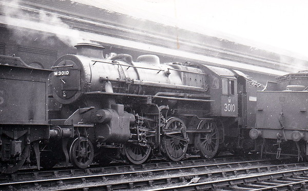 LMS - 3010 - Ivatt LMS Class 4MT 2-6-0 - built 03/48 by Horwich Works - 03/51 to BR No.43010 - 12/67 withdrawn from 12D Workington - seen here at Derby.