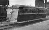 LMS Diesel Railcar No.29952 - LMS Leyland 4-wheeled Railcar - built 1933 by Leyland Motor Works - 1934 accepted into LMS stock, allocated to Lower Darwen MPD and used around Accrington, Blackburn and Clitheroe - 1941 transferred to Scotland working from Hamilton MPD - all withdrawn in April 1951 - seen here at Blackburn in August 1935.