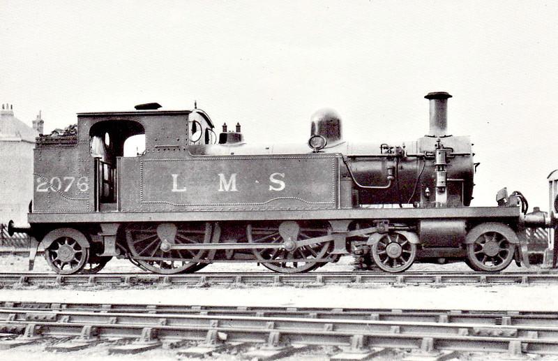 LTSR - 2076 - Whitelegg LTSR Class 1 4-4-2T - built 1885 by Sharp Stewart & Co. as LTSR No.25 STIFFORD - 1912 to MR No.2134, 1923 to LMS No.2199, 1930 to LMS No.2076 - 1935 withdrawn.
