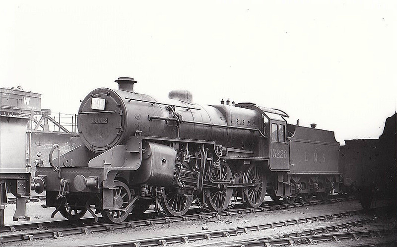 LMS - 13228 - Hughes LYR/LMS Class 5MT Crab 2-6-0 - built 05/31 by Crewe Works - 08/34 to LMS No.2928, 06/48 to BR No.42928 - 02/63 withdrawn from Lancaster Green Ayre - seen here at  20H Stafford Road GWR Shed, 08/32.