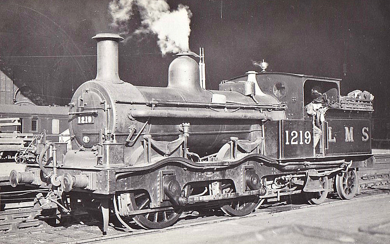 MR - 1219 - Kirtley MR Class 780 0-4-4T - built 1870 by Dubs & Co. as MR No.793 - 1907 to MR No.1218 - 05/35 withdrawn - seen here at St Pancras in 1927.