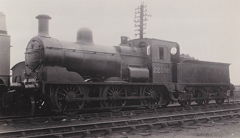 LTSR - 22899 - LTSR Class 49 2F 0-6-0 - built 1898 by Sharp Stewart & Co. for the Ottoman Railway, not delivered, sold to LTSR as No.50 - 1912 to MR No.2899, 1923 to LMS No.22899 - 1936 withdrawn