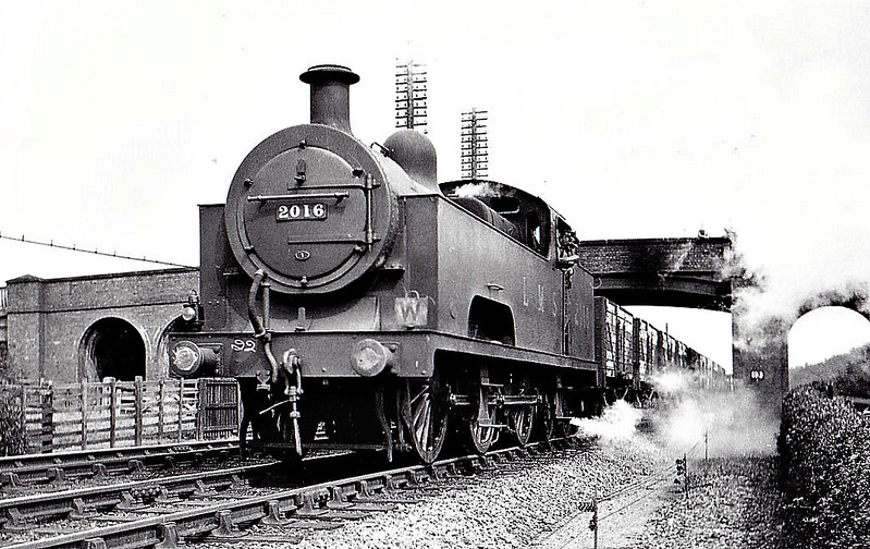 MR - 2016 - Deeley MR Class 3P Flatiron 0-6-4T - built 1907 by Derby Works - 1936 withdrawn - seen here at Stenson Junction in 1932.