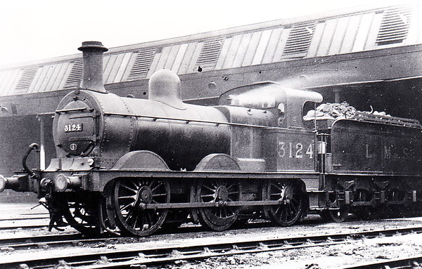 MR - 3124 - Johnson Class 1357 2F 0-6-0 - built 1884 by Beyer Peacock & Co., Works No.2223, as MR No.1626 - 1907 to MR No.3124 - 1923 to LMS - 1947 withdrawn.