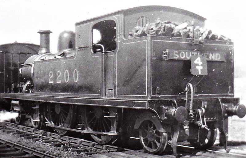 LTSR - 2200 - Whitelegg LTSR Class 1 4-4-2T - built 1880 by Sharp Stewart & Co. as LTSR No.1 SOUTHEND - 1912 to MR No.2110, 1923 to LMS No.2200, 1930 to LMS No.2077 - 1930 withdrawn.