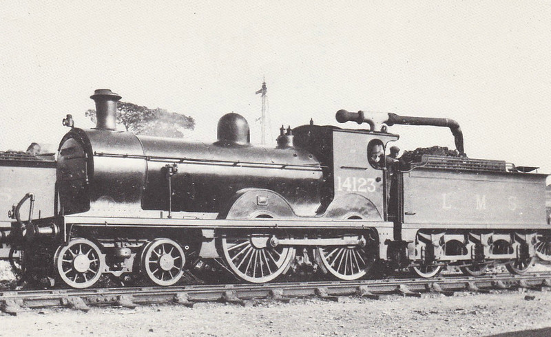 GSWR - 14123 - Smellie GSWR Class 119 4-4-0 - built 05/1883 by Kilmarnock Works as GSWR No.131 - 06/13 to Duplicate List as No.131A, 1919 to GSWR No.708, 07/22 rebuilt by Whitelegg, 1923 to LMS No.14123 - 06/34 withdrawn.