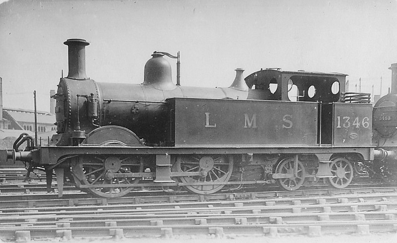 MR - 1346 - Johnson MR 1532 Class 0-4-4T - built 05/1889 by Derby Works as MR No.202 - 1907 to MR No.1346 - 11/47 withdrawn from Highbridge MPD.