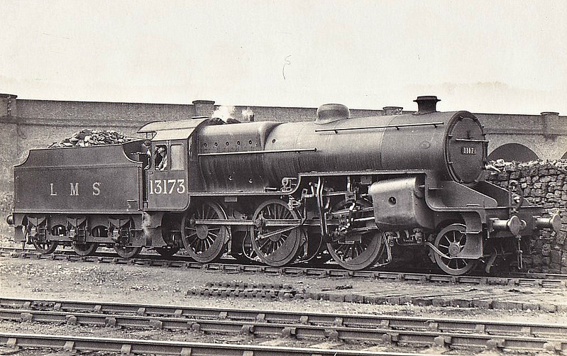 LMS - 13173 - Hughes LYR/LMS Class 5MT Crab 2-6-0 - built 05/30 by Crewe Works - 02/35 to LMS No.2873, 06/48 to BR No.42873 - 08/63 withdrawn from 9G Gorton.