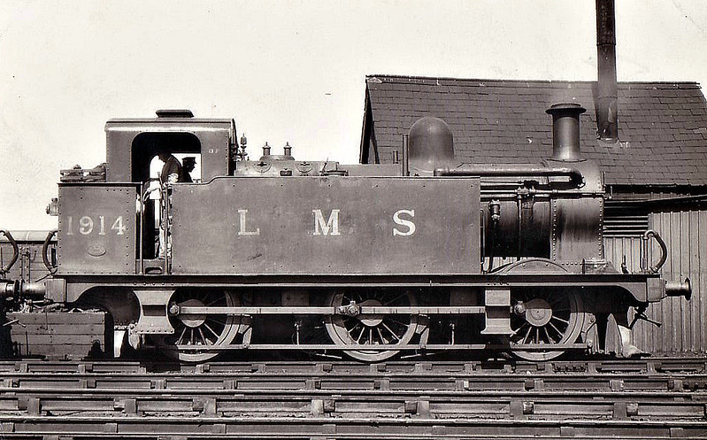 MR - 1914 - Johnson MR Class 3F 0-6-0T - built 03/00 by Vulcan Foundry as MR No.2455 - 1907 to MR No.1914, 1934 to LMS No.7214, 08/50 to BR No.47214 - 05/59 withdrawn from 14A Cricklwood.
