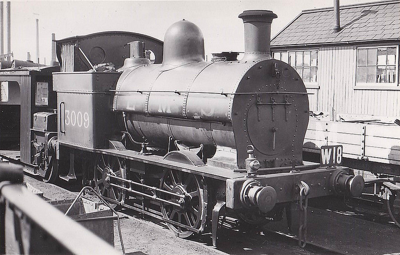 LNWR - 3009 - Webb LNWR Class 835 '4ft Shunter' 0-4-0T - built 1872 by Crewe Works as LNWR No.1210 - 1886 to Duplicate List as No.3009 - 1946 withdrawn - seen here in Crewe Works.