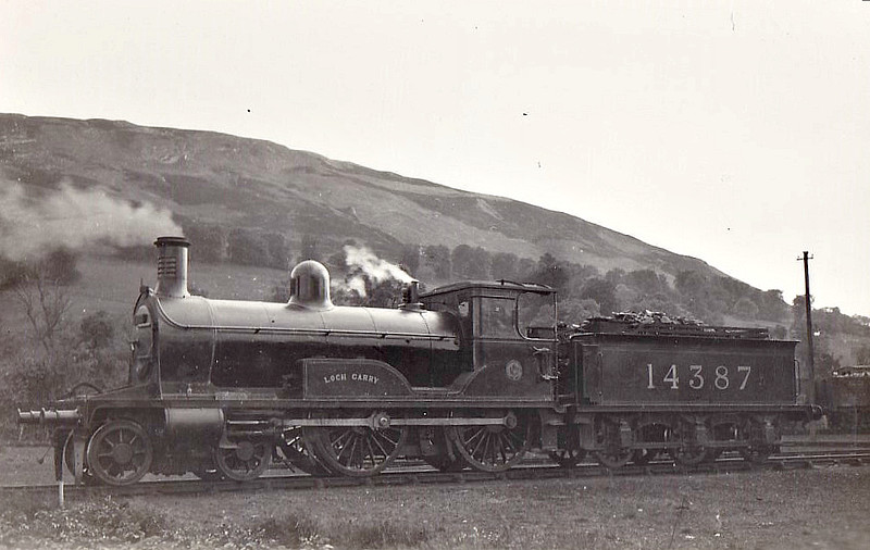 HR - 14387 LOCH GARRY - Jones HR Loch Class 2P 4-4-0 - built 07/1896 by Dubs & Co. as HR No.127 - 1923 to LMS No.14387 - 12/30 withdrawn.