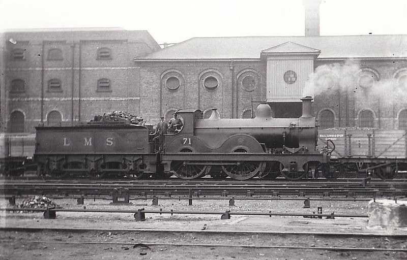 MR - 71 - Kirtley MR Class 890 2P 2-4-0 - built 1871 by Neilson & Co. as MR No.893 - 1907 to MR No.71 - 1930 withdrawn - seen here at Nottingham.