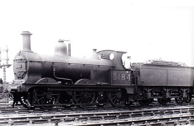 MR - 3184 - Johnson Class 1698 3F 0-6-0 - built 1887 by Derby Works as MR No.1792 - 1907 to MR No.3184 - 1923 to LMS - 1933 withdrawn - seen here at Nottingham.