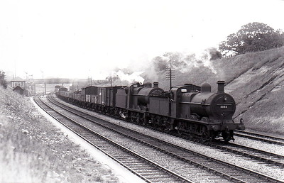 MR - 3181 - Johnson Class 1698 3F 0-6-0 - built 1887 by Derby Works as MR No.1789 - 1907 to MR No.3181 - 1923 to LMS - 11/49 to BR as No.43181 - 04/57 withdrawn from 19A Grimethorpe - seen here piloting Class 4F No.4536 in 1931.