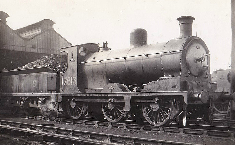 CR - 17613 - McIntosh CR Class 812 3F 0-6-0 - built 05/00 by Dubs & Co. as CR No.875 - 1923 to LMS No.17613, 01/48 to BR No.57613 - 09/62 withdrawn from 64D Carstairs, where seen 05/38.