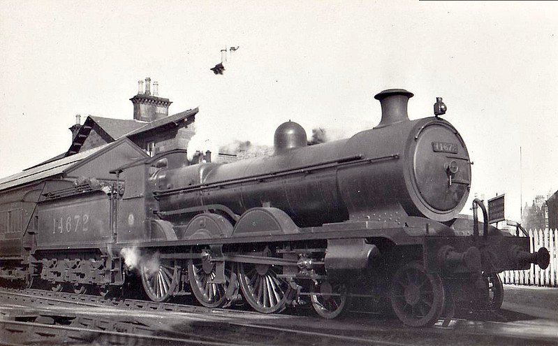 GSWR - 14672 - Manson GSWR Class 381 4-6-0 - built 01/11 by Kilmarnock Works as GSWR No.126 - 1920 rebuilt by Whitelegg and to GSWR No.510, 1923 to LMS No.14672 - 11/32 withdrawn.