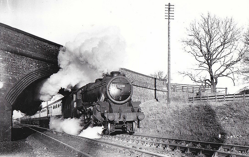 LMS - 4776 - Stanier LMS Class 5MT 4-6-0 - built 06/47 by Crewe Works - 06/49 to BR No.44776 - 10/67 withdrawn from 8F Wigan Springs Branch - seen here at Chaloner's Whin Junction, 1947.