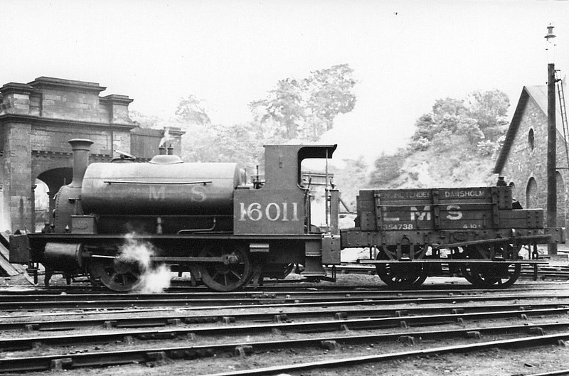 CR - 16011 - Drummond CR Class 264 'Pug' 0-4-0ST - built 07/1885 by St Rollox Works as CR No.270 - 1923 to LMS No.16011, 01/52 to BR No.56011 - 01/59 withdrawn from 60A Inverness, where seen.